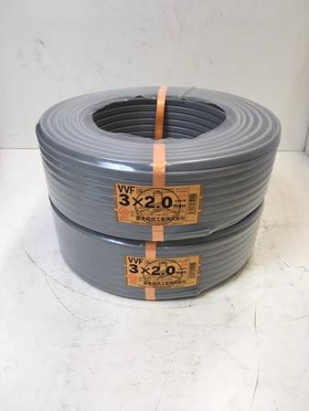 【富士電線】VVFケーブル3×2.0芯 2セット 100m
