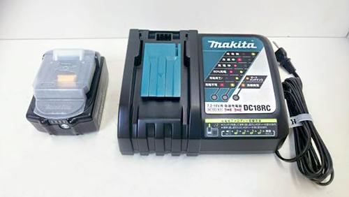 マキタ 7.2-18V用 急速充電器 DC18RC T バッテリー付き
